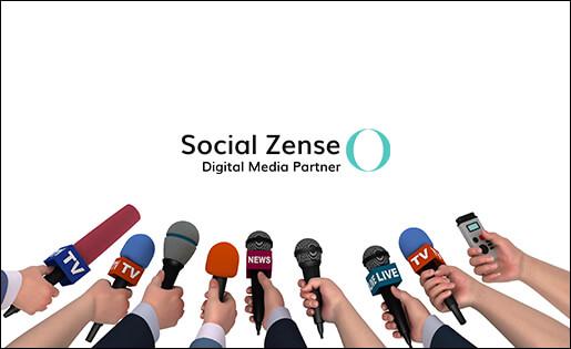 Social Zense i media - hemsida